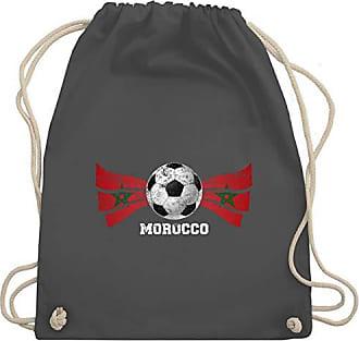 2020 Bag Dunkelgrau Unisize Turnbeutel amp; Fußball Wm110 Gym europameisterschaft Morocco Vintage Fußball Shirtracer Sxaqff