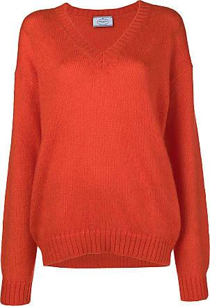 neck V Prada V neck Prada Sweater Jaune p00dq