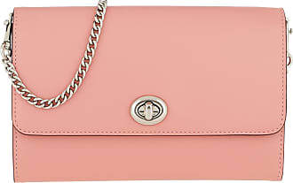 Turnlock Bag Coach Leather Crossbody Umhängetasche Rosa Pink Chain Smooth EXPfqv
