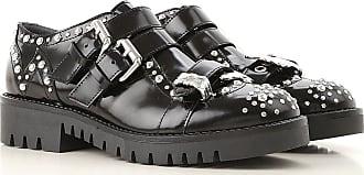 37 On Mcqueen Black Leather 38 Monk Shoes 35 2017 36 Sale Alexander Strap IOxPSqww