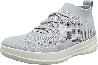 Eu Top Fitflop Zapatillas Uberknit Plateado 42 on pearl Mujer Altas Para 618 Sneaker Slip High UURTI6q