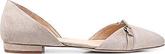 Flache Damen ballerinas Velours elementen In Grau Volant 40 Slipper Cox Leder Mit Aus 4tFqnwBSSx