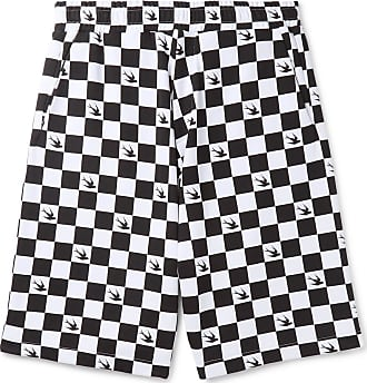 Mcq Cotton Mcqueen Checkerboard By Loopback ShortsWhite jersey Alexander F1clTJK