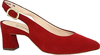 Block 43313 Back 2 Peter Suede Sling Shoe Red Lidia Heeled Kaiser P5nxAxRqT