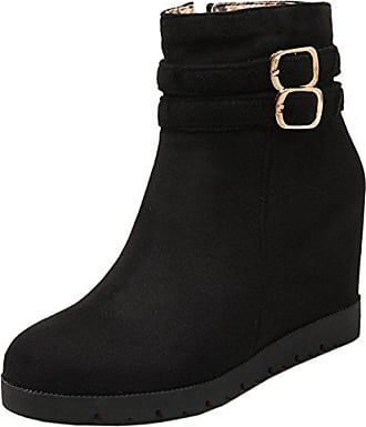 Schuhe Kurz winter Mit Black Herbst Taoffen 34 Stiefel Daman Size Asian Keilabsatz EHD9IW2