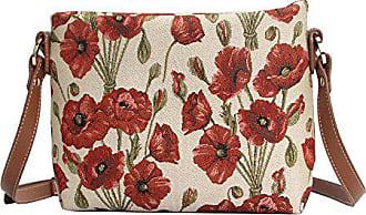 Oder Tapisserie Blumen Schultertasche Modische mohnblume Damen Messengertasche Signare Bodybag XfSHq5Xw