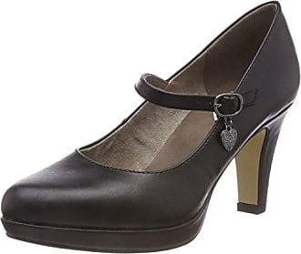 31 oliver black 24400 Tacón 37 Nappa Negro Para De Mujer 22 Zapatos S Eu E4fwqf