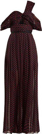 Self Polka One Print DressWomens Dot Maxi Portrait Navy Shoulder FT1JK3ulc