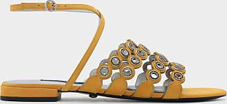 Sandals Detail Grommet amp; Suede Charles Keith Sn0xta0TX