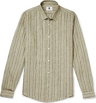 Green 07 gauze Nn Linen Striped Shirt zw8Txg4Bqg