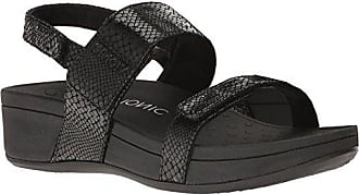 Leather Bolinas Sandals Pacific Vionic Snake Eu Black 382 Womens 38 FPRxOqY