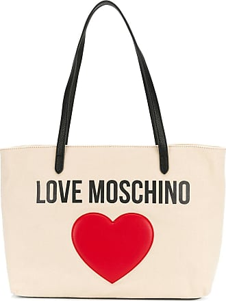Hbvq1tw Neutres Embellished Heart Tote Tons Love Moschino Logo 65HwnE0qx