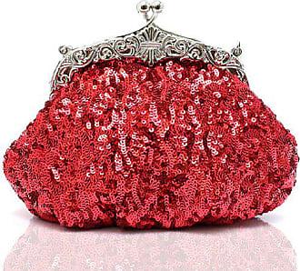 Pailletten Exquisite Kaxidy Seed Abendtasche Geldbeutel Partei Clutch handtascherot Bead abend sCxtrdoQhB