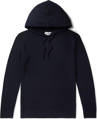 Slim John Smedley Wool Navy Hoodie 4 Singular knit fit Honeycomb Merino qAtZArP
