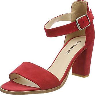 Bride 41 Cheville Sandales Eu Femme Suede red 324 Rouge Pavement Silke Bx7zEwqH