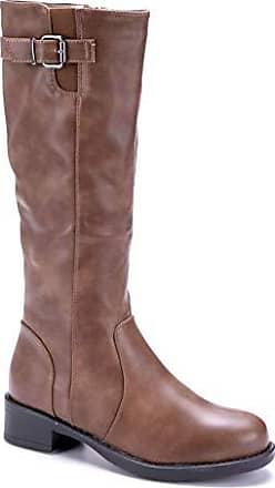 Blockabsatz Stiefeletten Damen Schuhe Khaki Stiefel Cm Boots Schuhtempel24 Schnalle 4 Klassische srBdthCQx