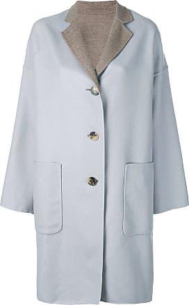 Oversized Bleu Biani Alberto Buttoned Coat 4SqwB
