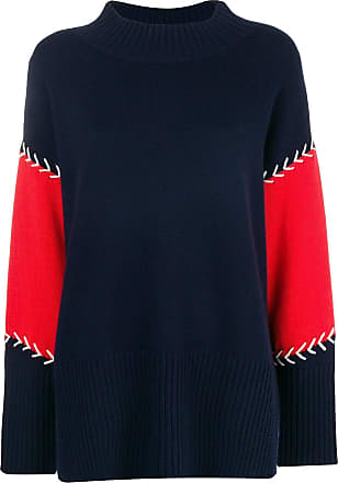 And Contrast Bleu Chinti Stitch Parker Panelled Sweater SqxEdwH