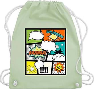 amp; Bag Comic Pastell Shirts Grün Wm110 Shirtracer Buchseite Gym Turnbeutel Unisize 8xqvqBU