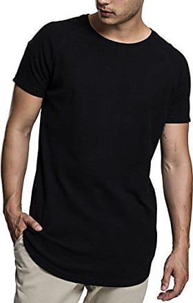Negro Raglan Hombre Tee black Xx Camiseta Urban Slub Thermal 7 large Classics Para tw0qng8