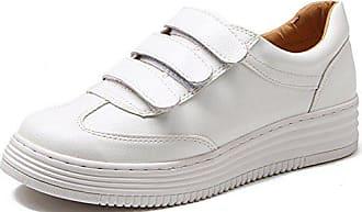Weiß Low Flach 35 Fashionable Aisun Sneakers Klettverschluss Damen Eu Plateau top Durchgängig PkuZOTiX