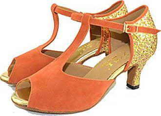 Mit Boden Nach Latin Dance Absätzen Xzgc Schuhe34 Frauen Weichen Hohen EuOrange Schuhe DIEeHYW29