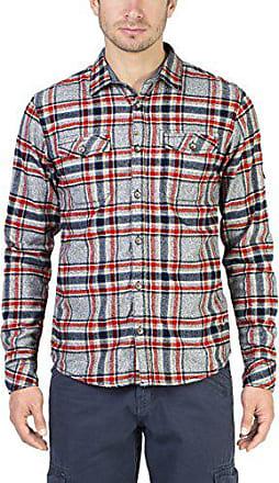Grau Timezone 9026 Check Grey Boland Flannel Hombre 42 Camisa Para warm XX6pgPq