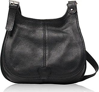 Leder Bag O Als Schulter Modell Petra Tragbar Und Damen Genarbtes Handtasche My q47OxwCOE