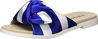 Sandales Shoes Blue Multicolore Satin David Buffalo Bout Ouvert fSqX8w