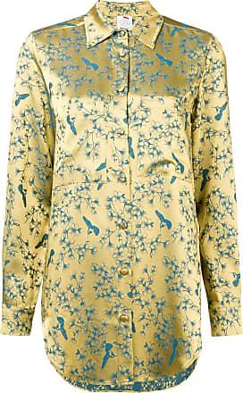 Chic Sheen Bird Ultra Print Jaune Shirt YOqtd