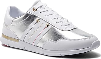 Tommy Sneakers Fw0fw03688 100 White Leather Hilfiger Sneaker Essential rTS7r