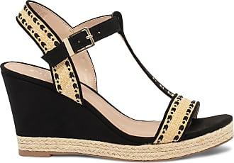 éram Noire éram Compensée Sandale Sandale Compensée Noire éram Compensée Sandale Brodée Brodée Noire SVpUzMqGL