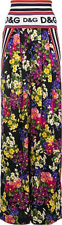 amp; Noir À Pantalon Dolce Ample Fleurs Gabbana vxqWaZ