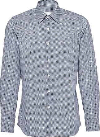 Shirt Geometrische Met Prada Print Blauw BEwd6xqX