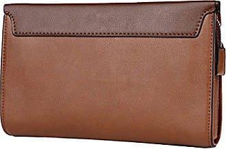 Modegeschäft onesize Zipper Brieftasche Handtasche Bag Gkkxue brown Big Mann Oq18TY