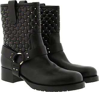 Valentino Schwarz Studded Rockstud Black Boots RSqFZ
