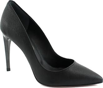 Cuir Chaussures Z04 Décollet Femme Evaluna Noir Orteil Talon 8wqXzWH7