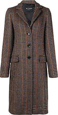 Coat Etro Breasted Marron Single Patterned xwXHOqvC