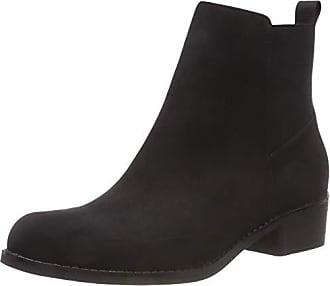 Back 38 100 black Noir Boots Eu Femme Elastic Chelsea Bianco dRq68wd