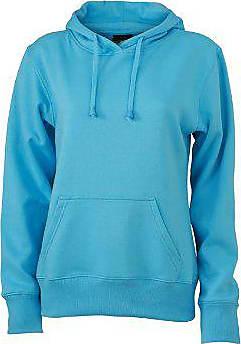 Damen Sweat Blausky large Ladies BlueXx Sweatshirt Nicholson Jamesamp; Hooded eEIDWH92Y