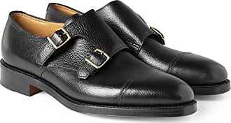 Monk strap Lobb Shoes John Black William Leather 6ztndOPW