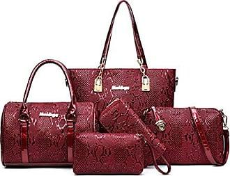 onesize Und Weise Handtasche Taschenbeutel Art Schulterbeutel Mappe Dame Beiläufige Tasche Fünfteilige winered Chengxiaoxuan Kosmetische WD9Ye2bEHI