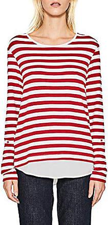 red Camisa Para 997eo1k800 large Larga Manga Mujer Esprit X 630 Rojo xqFw0If