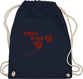 Gym Free Bag Shirtracer Unisize Navy Wm110 Turnbeutelamp; WintersportSnowboard Ride Blau EWeDIYH29