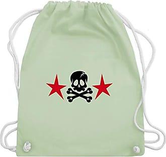 Gym Totenkopf amp; Pastell Shirtracer Bag Turnbeutel Piraten Sternen Unisize Mit Grün Wm110 TZUEwRqvW
