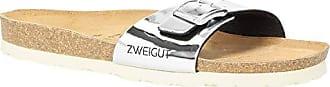 Zweigut Soft Leder Schuhgröße Riemen Damen komfort Metallic Sommer Sandalen 551 Luftig Farbe Mit silber 1 Schuhe fußbett 38 zvFwrpzxqn