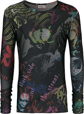 Yohji shirt Zwart Print Met Yamamoto T p4qxrRp
