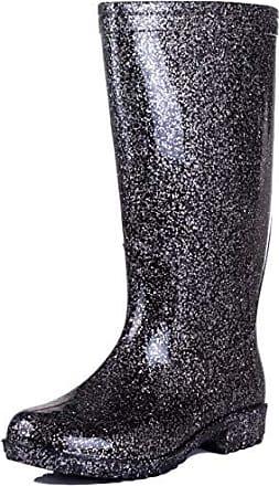 Wide Flat 5 Synthetic Sz Wellies Festival Spylovebuy Rain Boots Calf Black 4AwdRUqqx