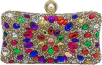Drilling Abendtasche Diamond Strass Addora Hot Dinner Farbe Fashion Damen 6 Bag Handtasche gold 20 Bankett Mini Bag 10cm Clutch vYfgyb76Im