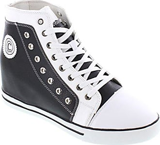 K882895 Schuhe weiss Fashion Schwarz 9 Höhe Sneakers Calden D 3 Zunehmende Aufzug Leder Zoll Us 8 TallerGröße oWQBerCxd